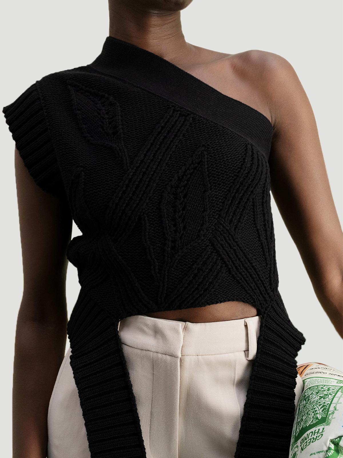 Beagle Knit Vest  Black 1
