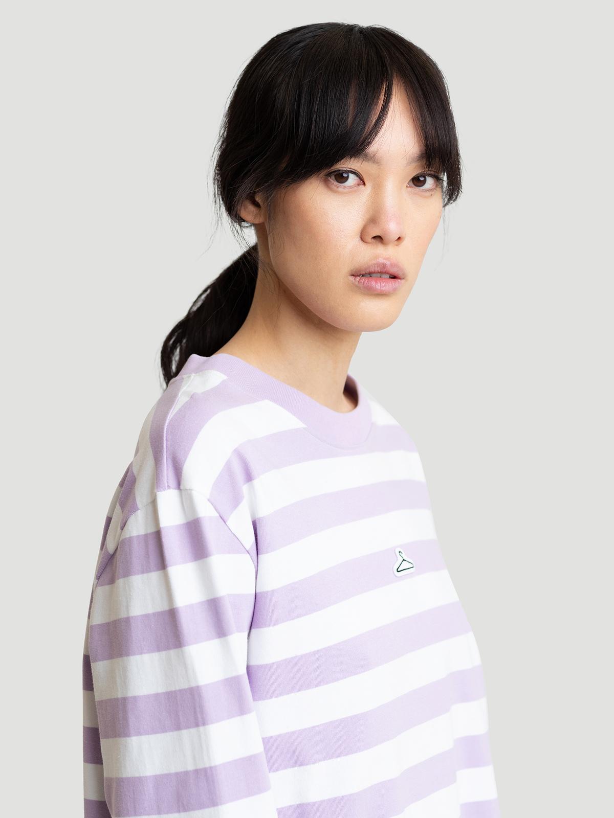 Hanger Striped Longsleeve Lilac White 3