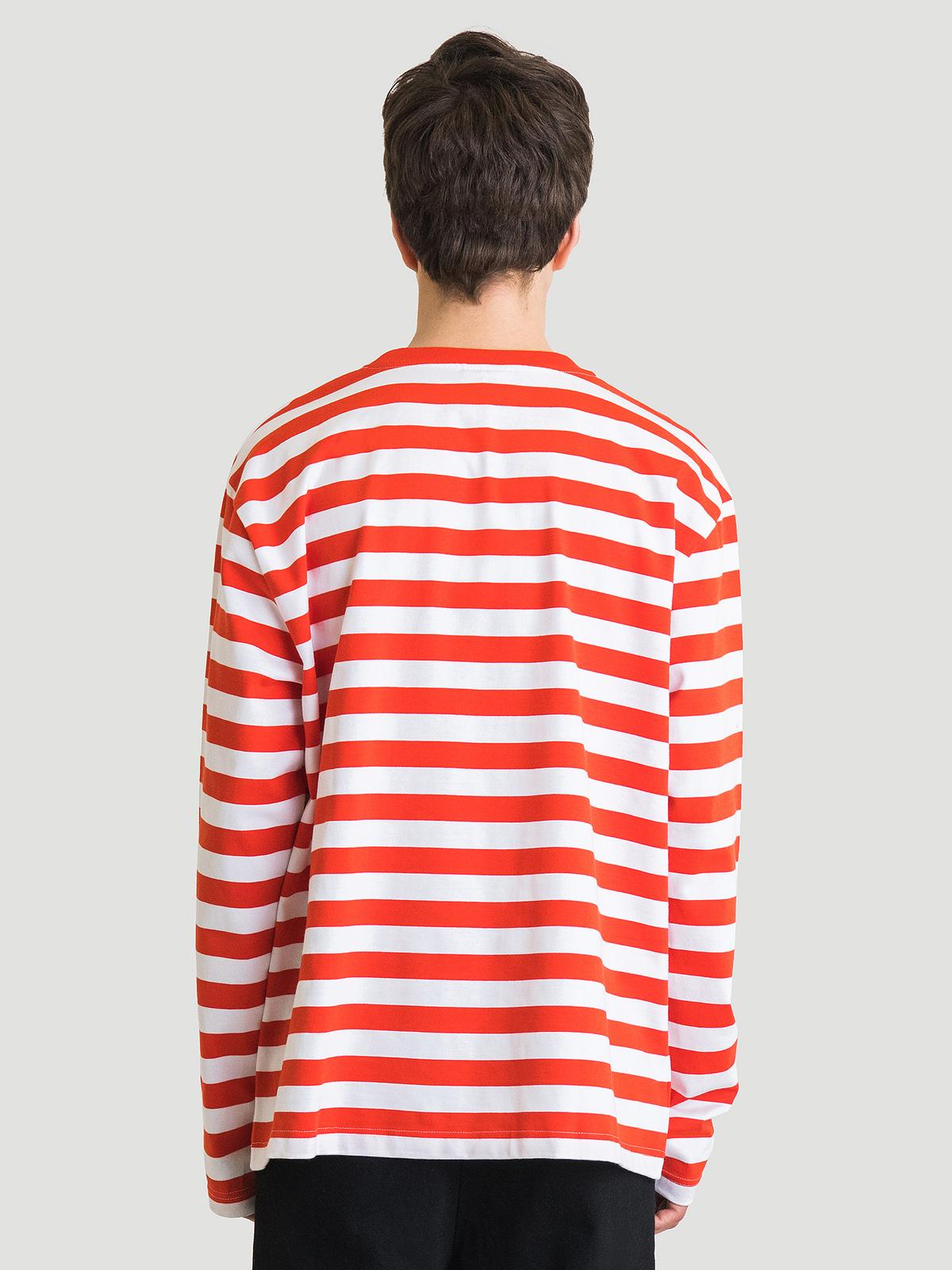 Hanger Striped Longsleeve Red White 10