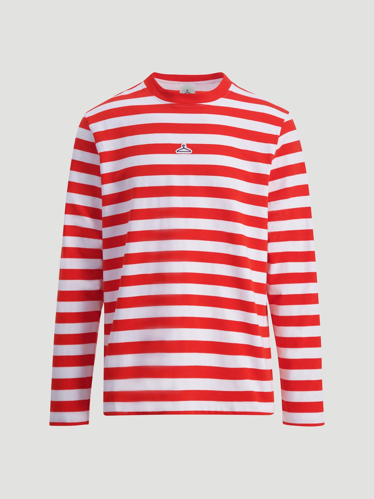 Hanger Striped Longsleeve Red White 1
