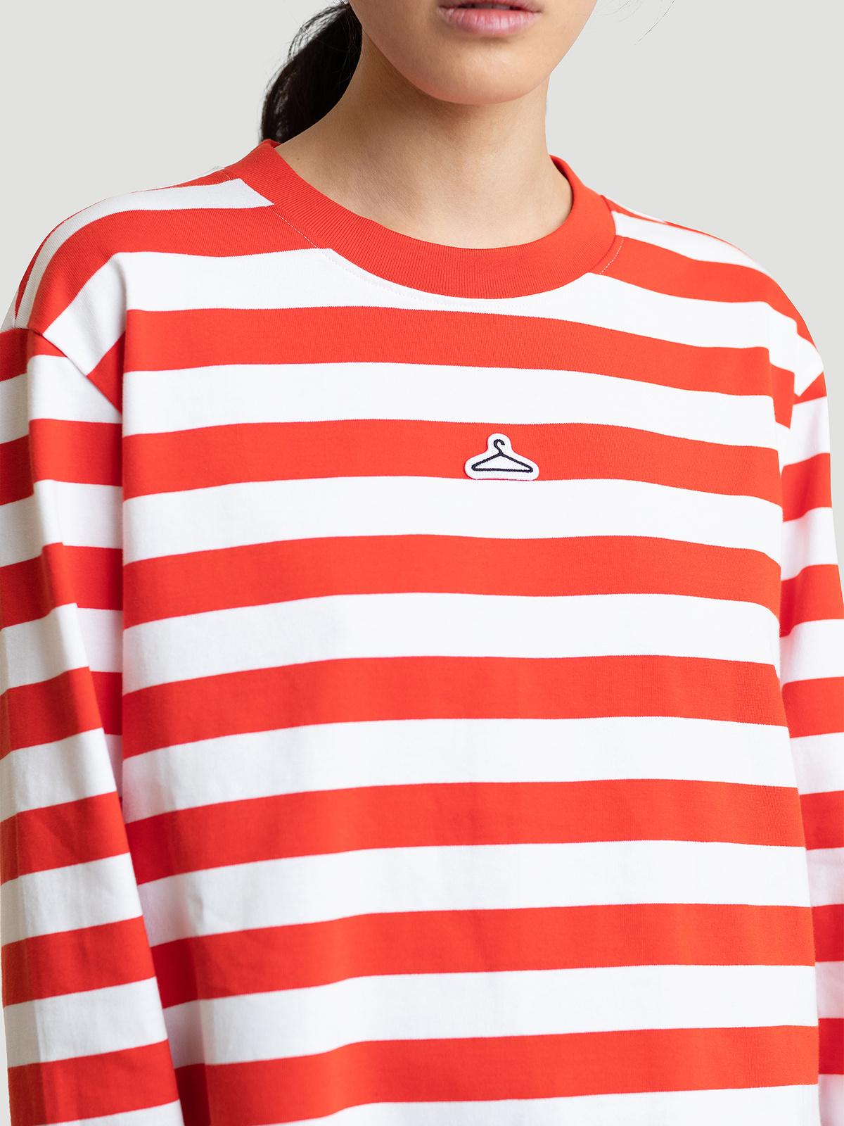 Hanger Striped Longsleeve Red White 4
