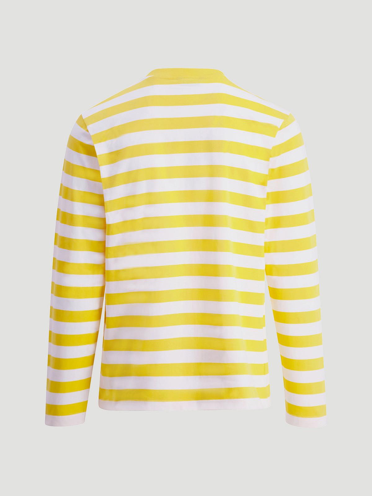 Hanger Striped Longsleeve Yellow White 2