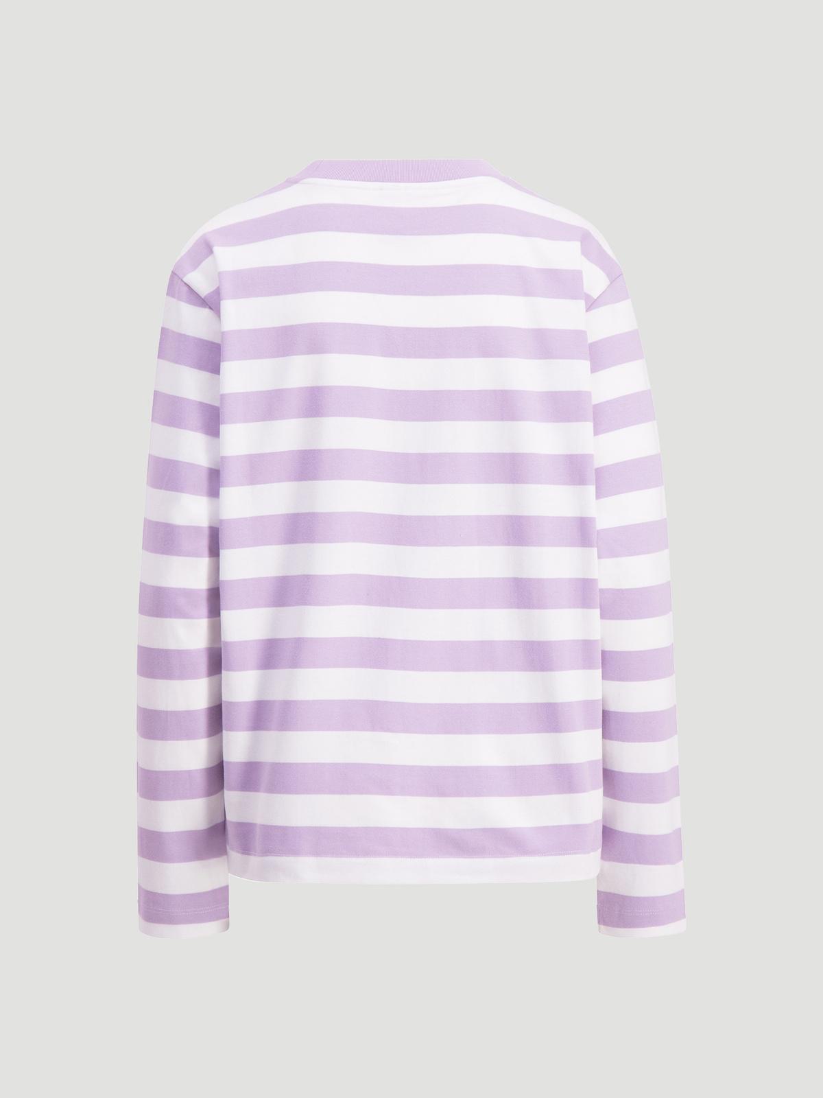 Hanger Striped Longsleeve Lilac White 2