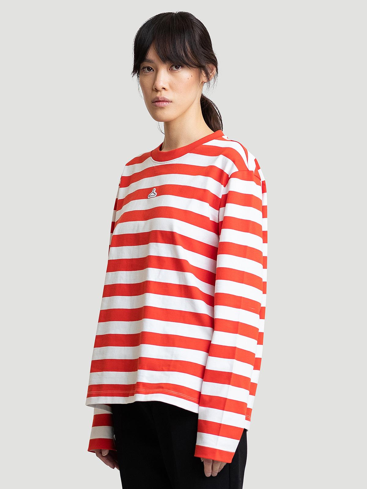 Hanger Striped Longsleeve Red White 6