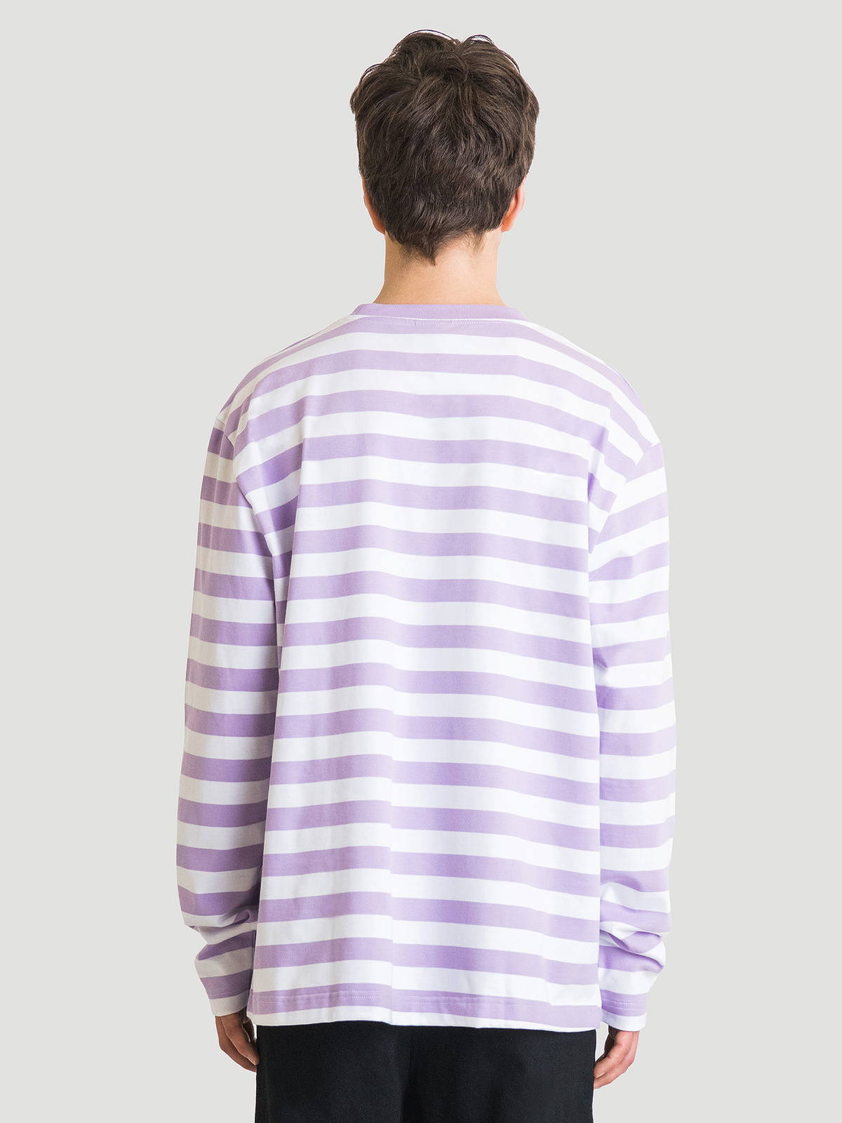Hanger Striped Longsleeve Lilac White 10