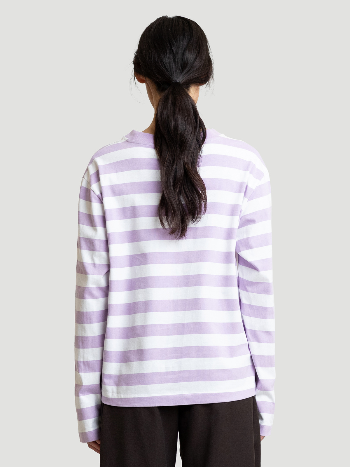 Hanger Striped Longsleeve Lilac White 11