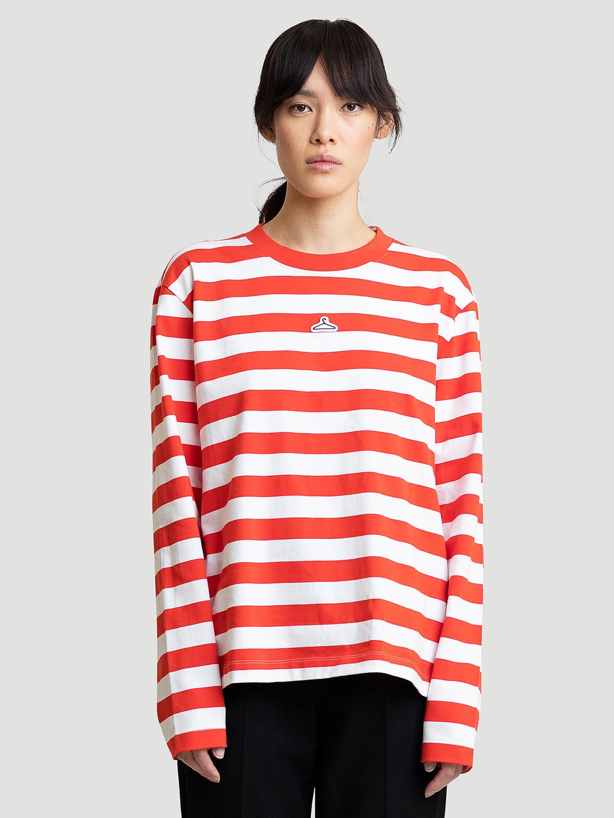 Hanger Striped Longsleeve Red White 0