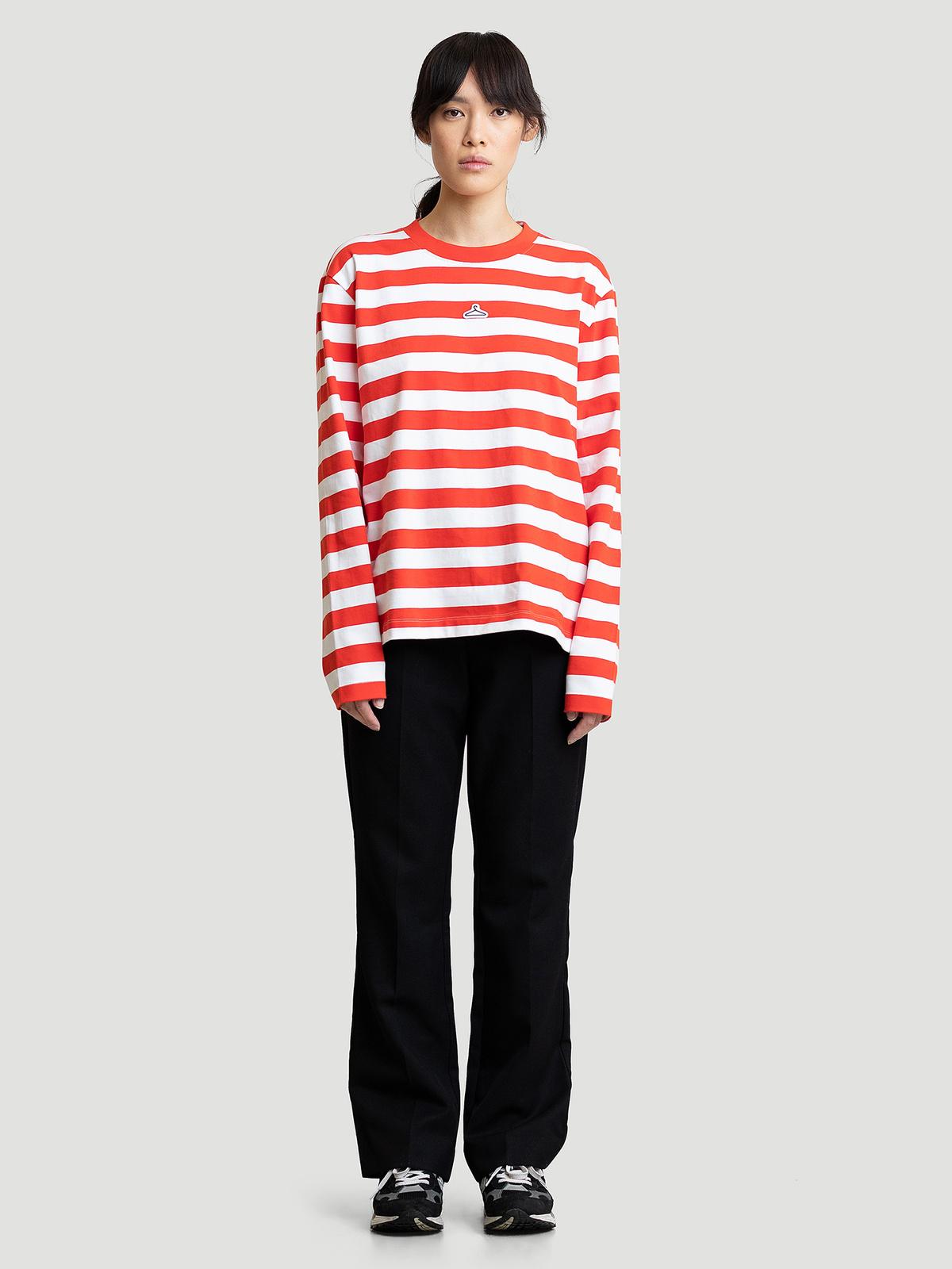 Hanger Striped Longsleeve Red White 8
