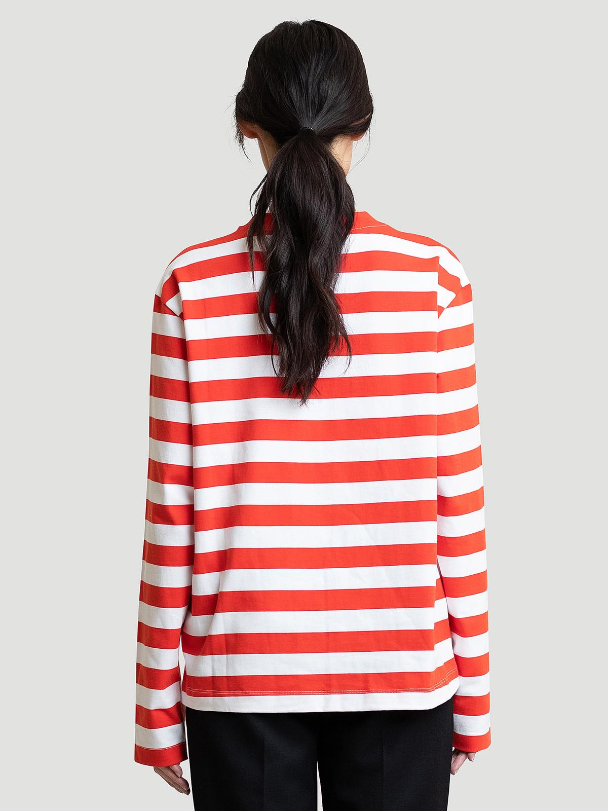 Hanger Striped Longsleeve Red White 11
