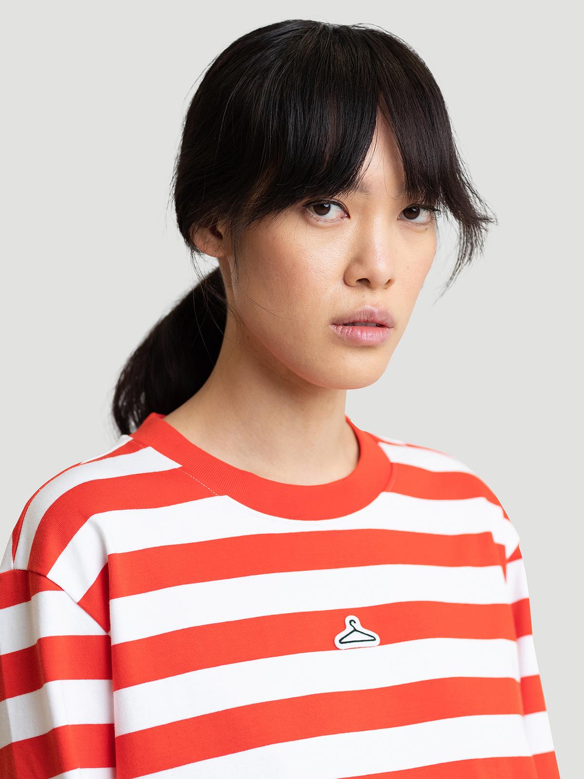 Hanger Striped Longsleeve Red White 3