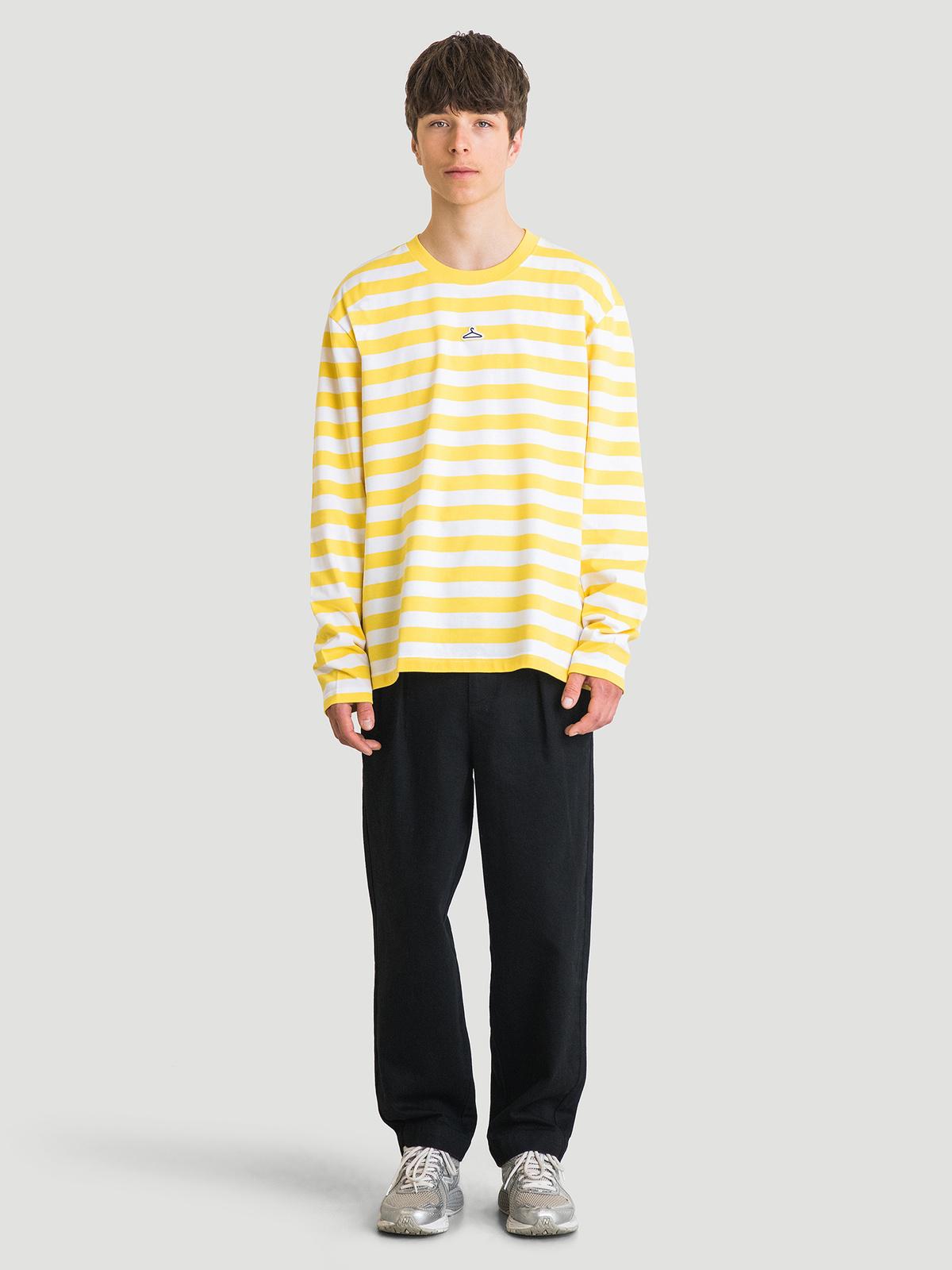 Hanger Striped Longsleeve Yellow White 4