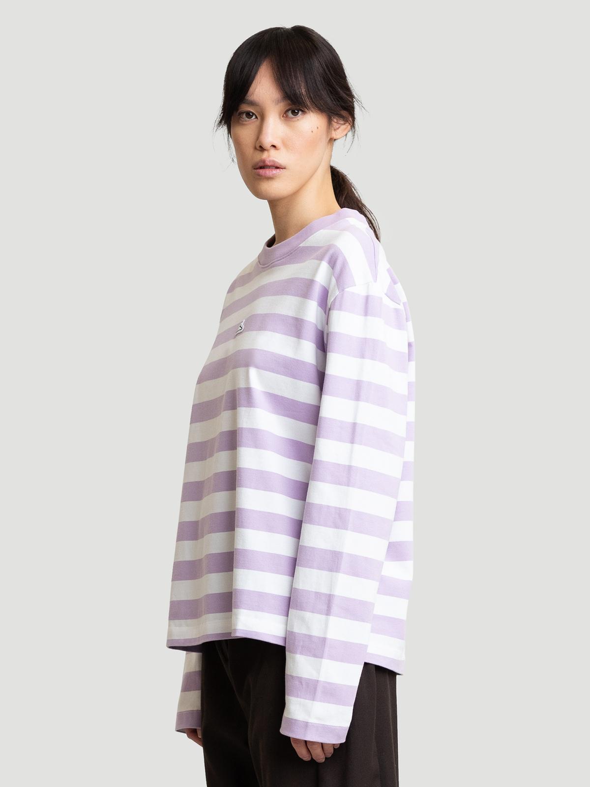 Hanger Striped Longsleeve Lilac White 7