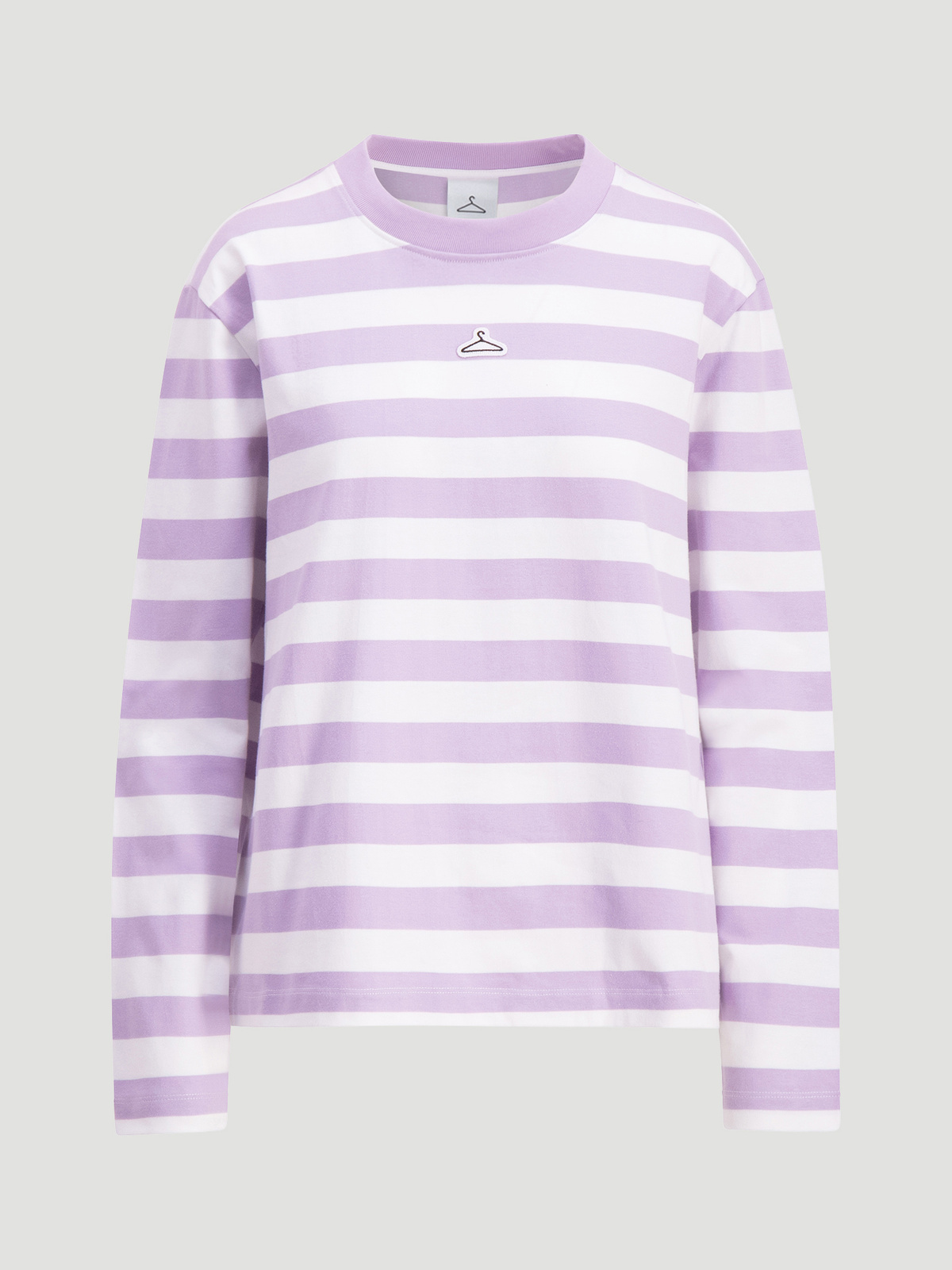 Hanger Striped Longsleeve Lilac White 1