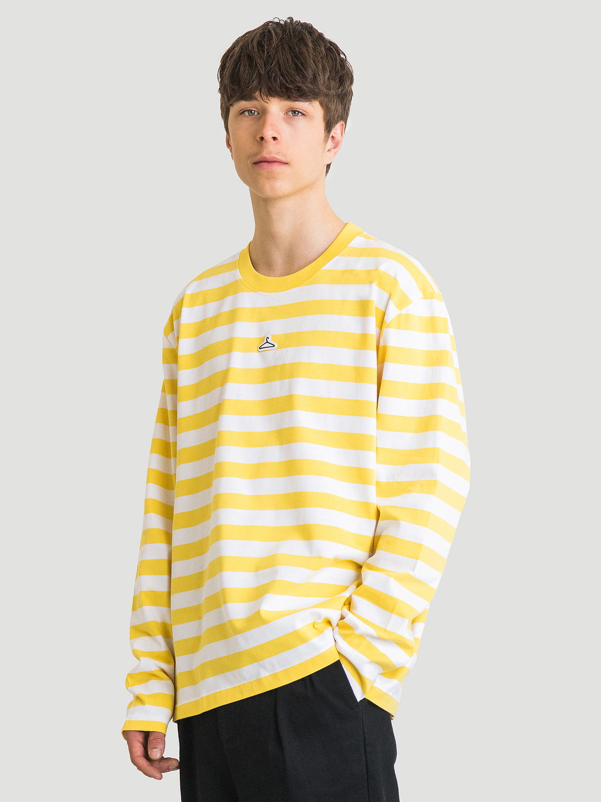 Hanger Striped Longsleeve Yellow White 3