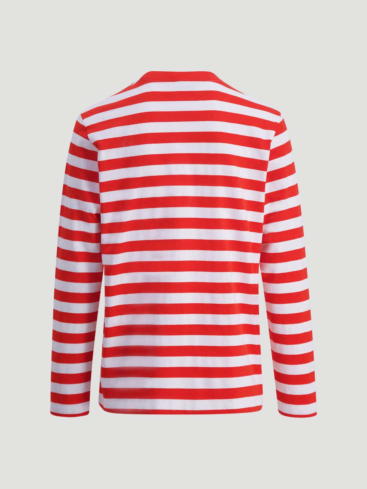 Hanger Striped Longsleeve Red White 2