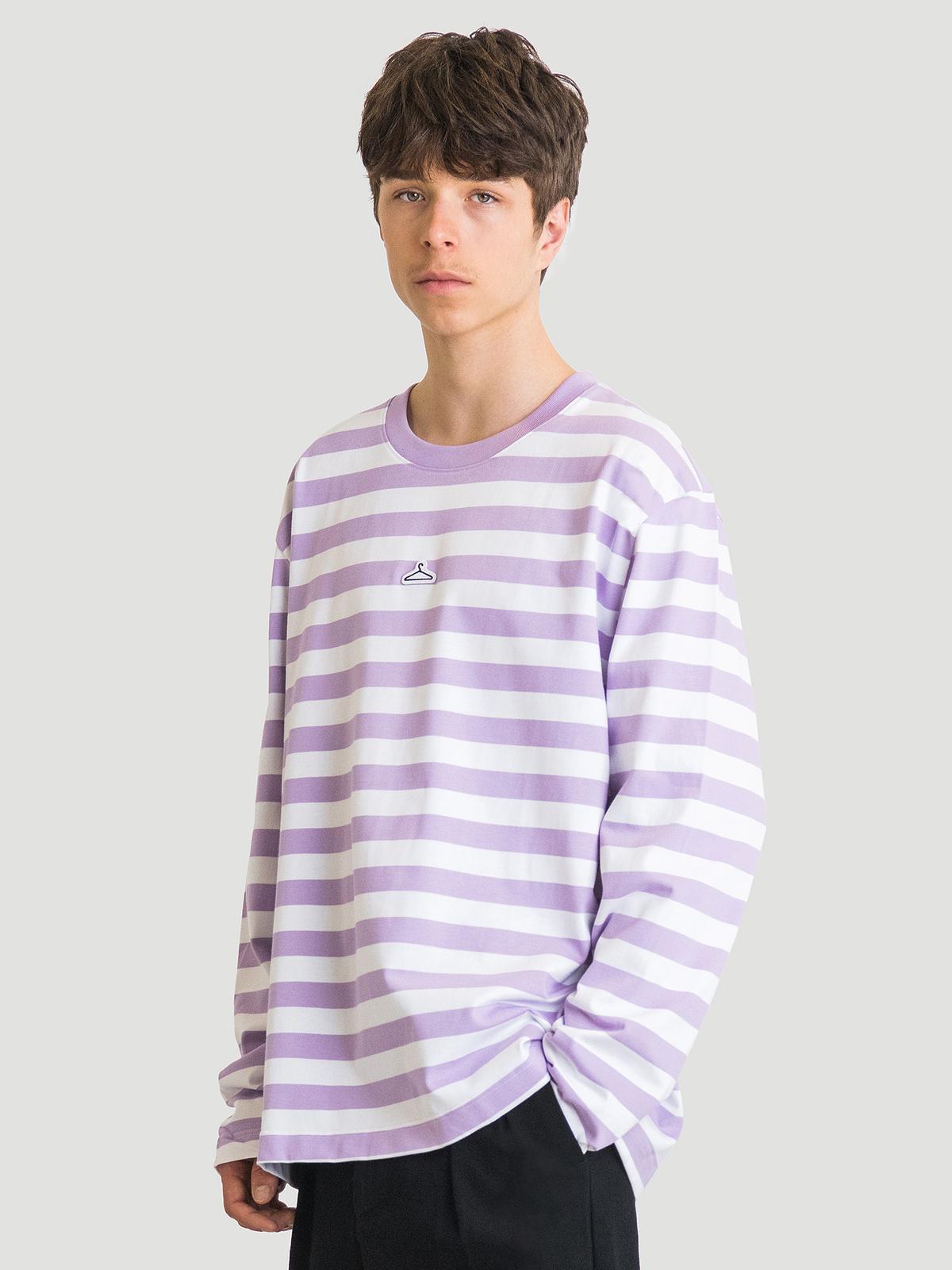 Hanger Striped Longsleeve Lilac White 6