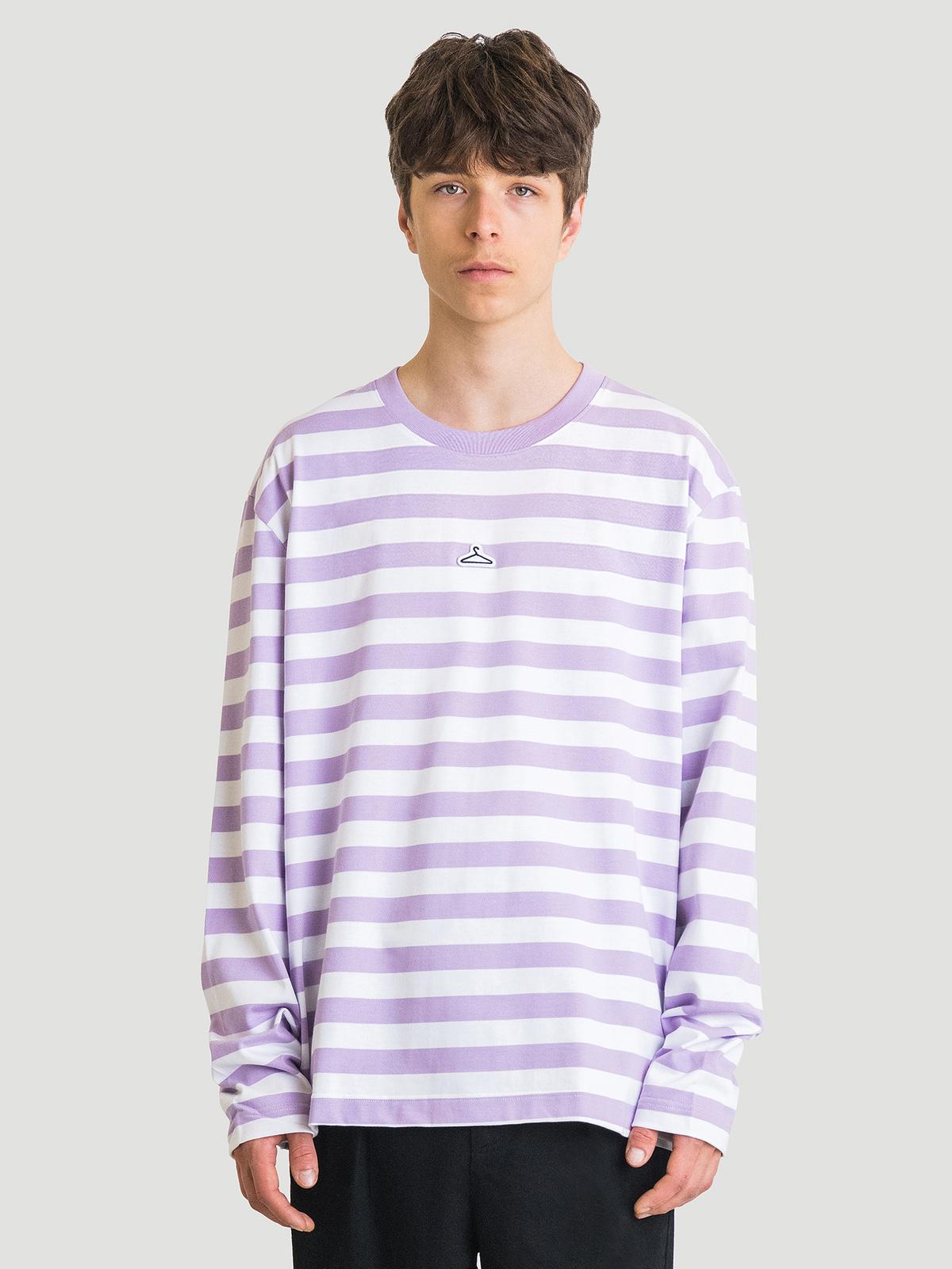 Hanger Striped Longsleeve Lilac White 0