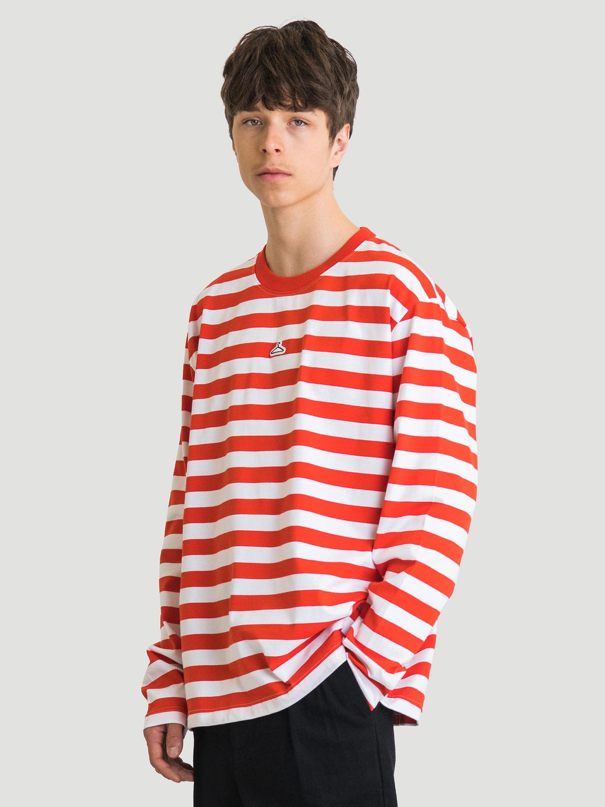 Hanger Striped Longsleeve Red White 7