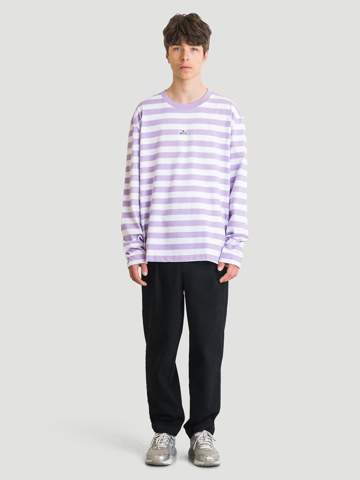 Hanger Striped Longsleeve Lilac White 8
