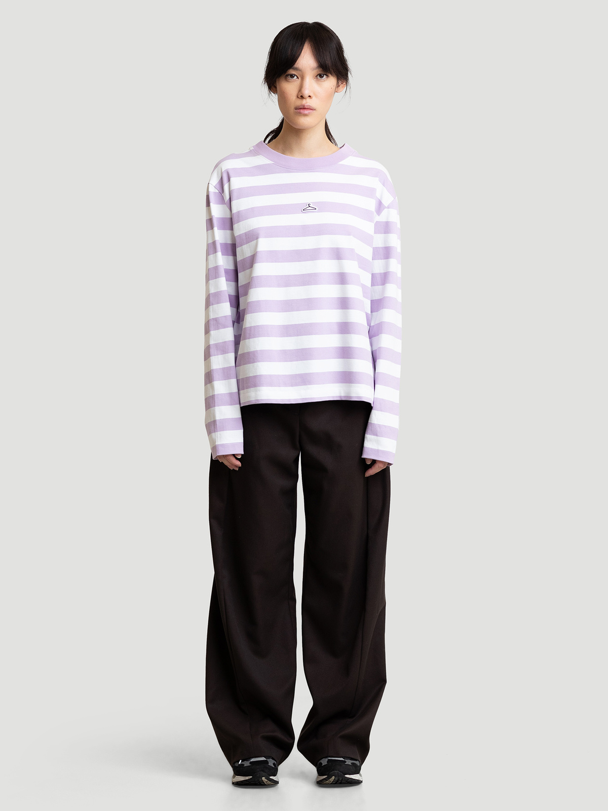 Hanger Striped Longsleeve Lilac White 9
