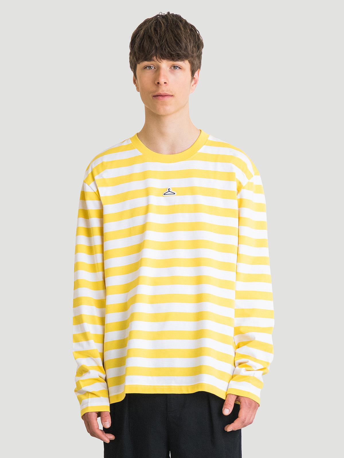 Hanger Striped Longsleeve Yellow White 0
