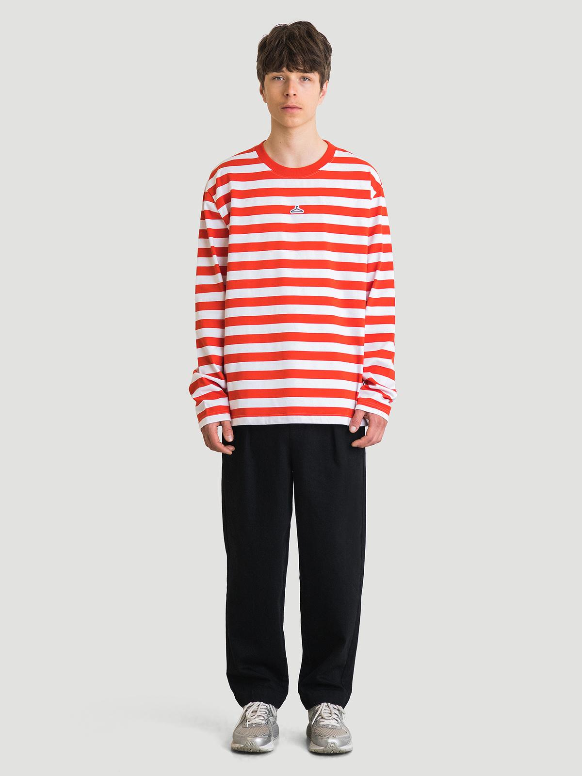 Hanger Striped Longsleeve Red White 9