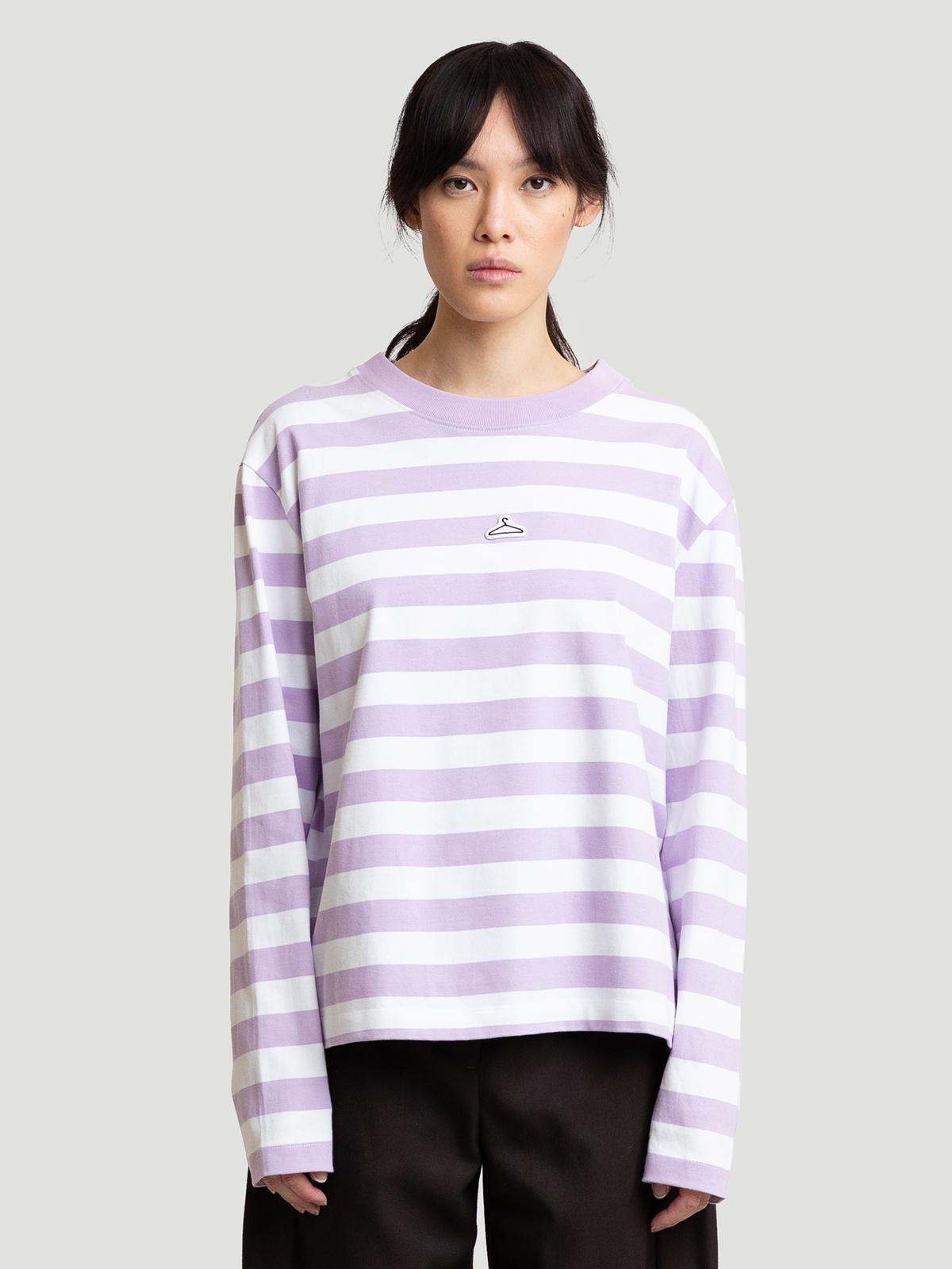 Hanger Striped Longsleeve Lilac White 5