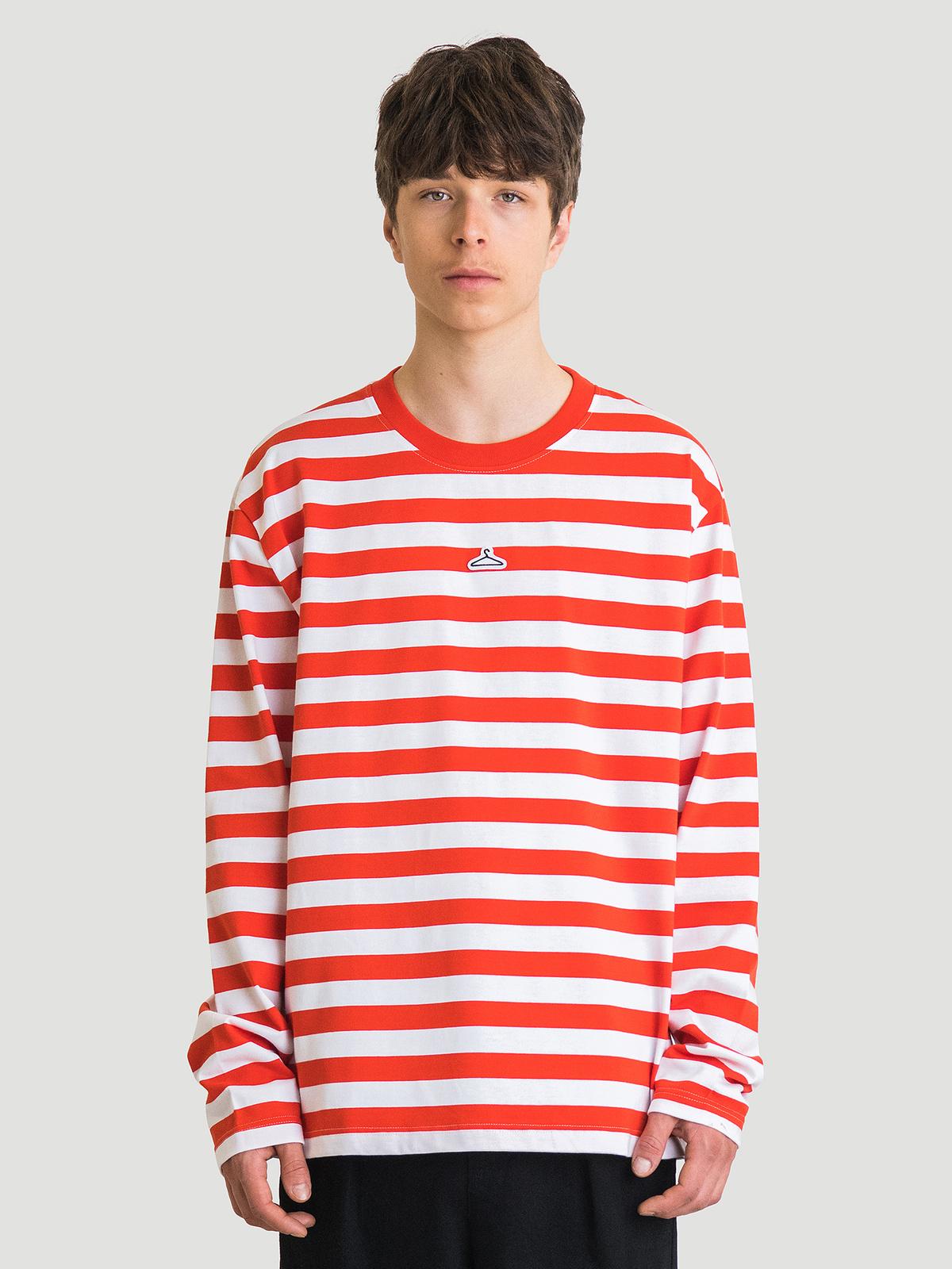 Hanger Striped Longsleeve Red White 5