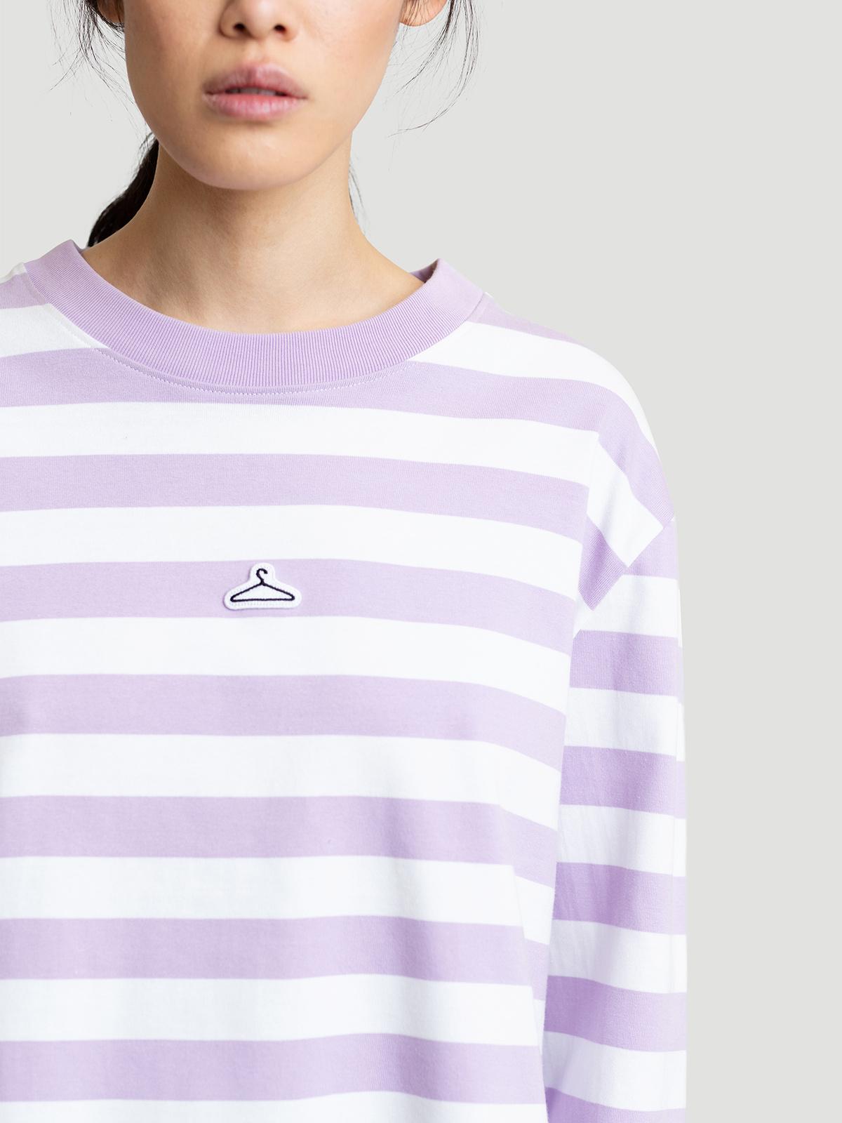 Hanger Striped Longsleeve Lilac White 4