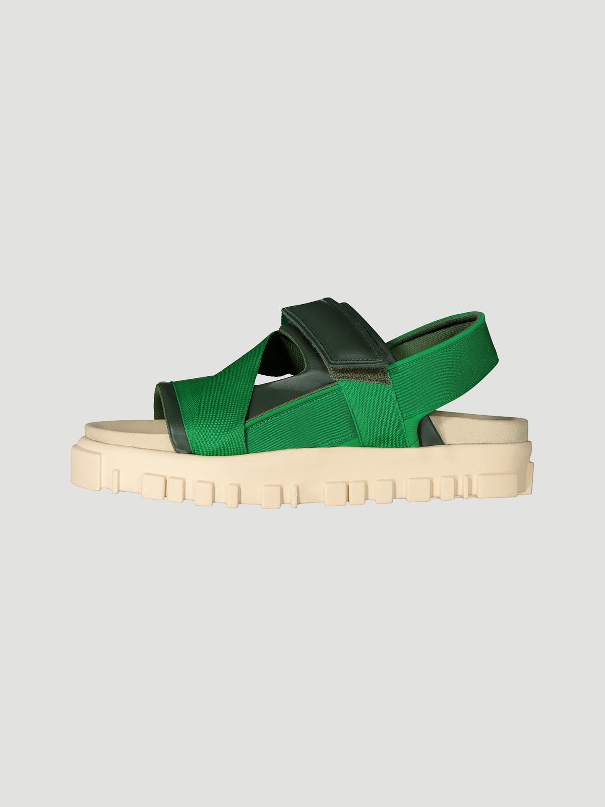 National Sandal Velcro Green 2