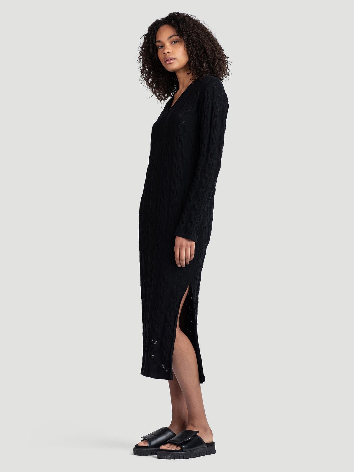 Nim Knit Dress  Black 2