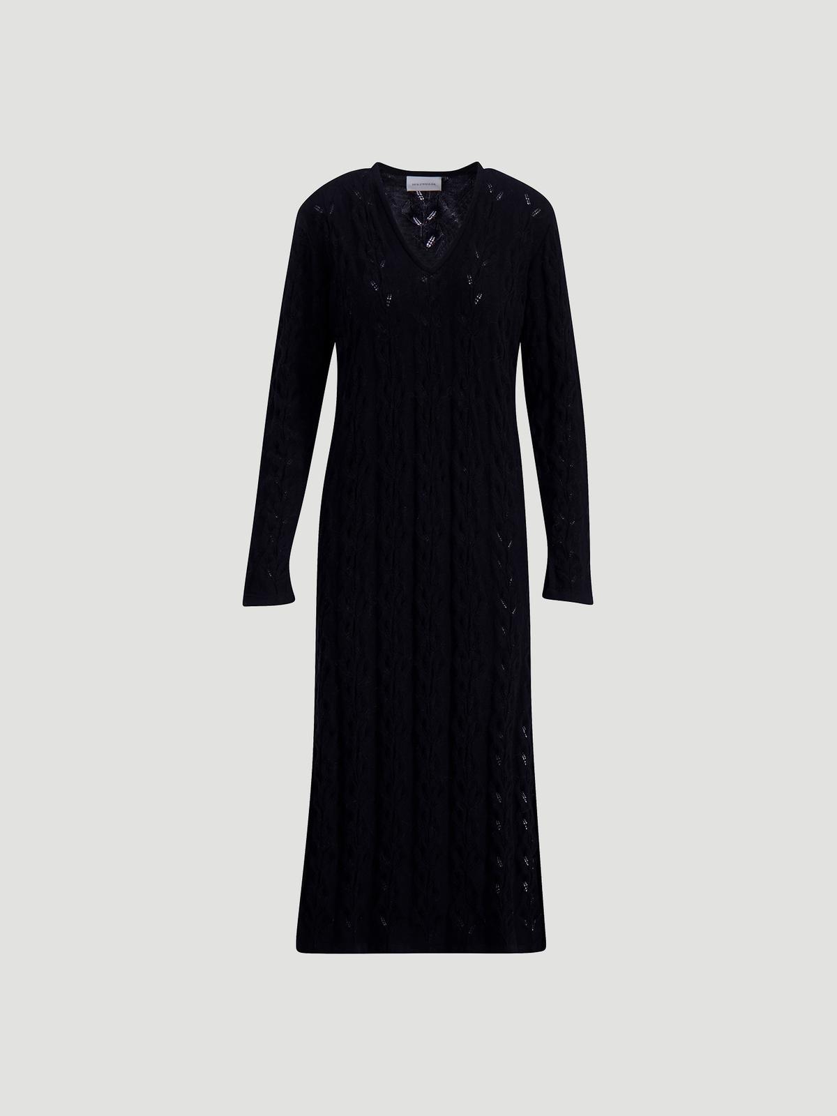 Nim Knit Dress  Black 5