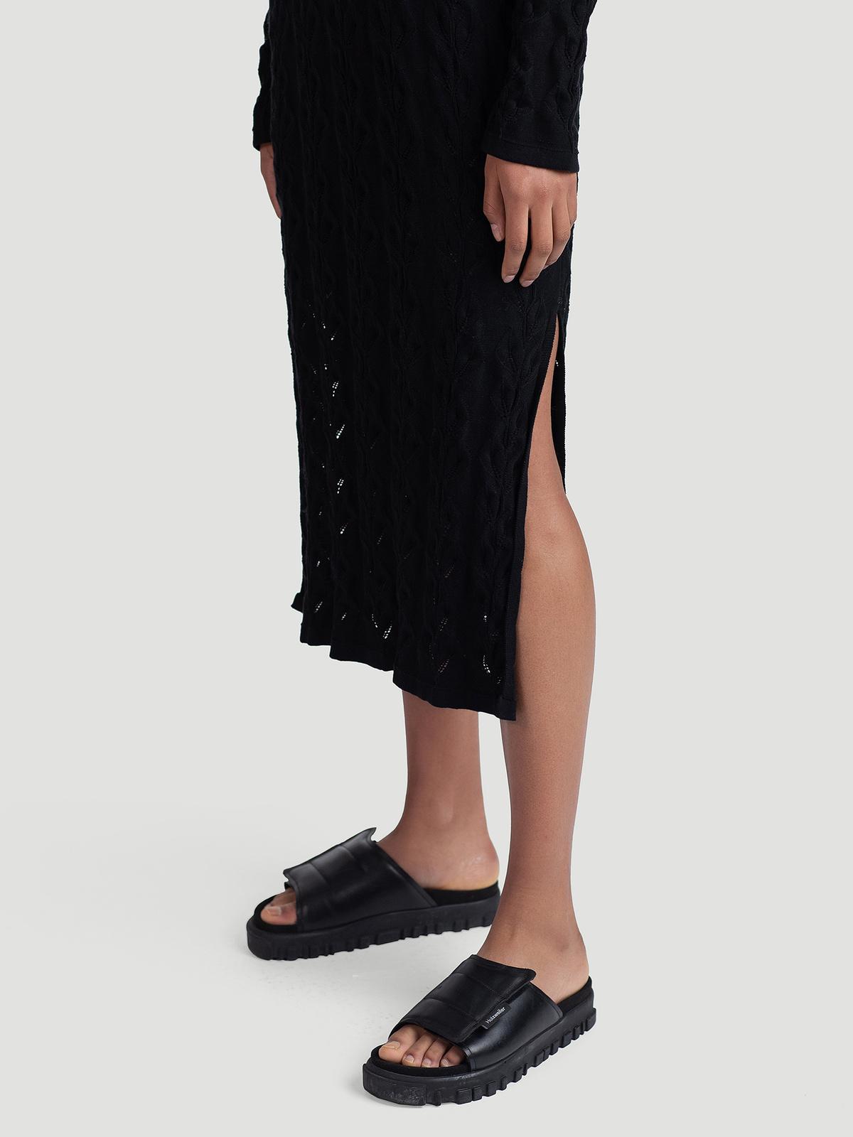 Nim Knit Dress  Black 3