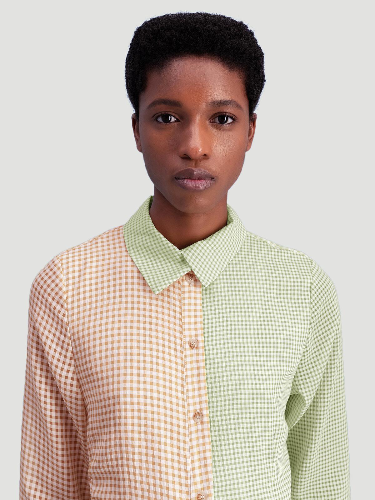 Peppo Dress  Lt. Green mix 2
