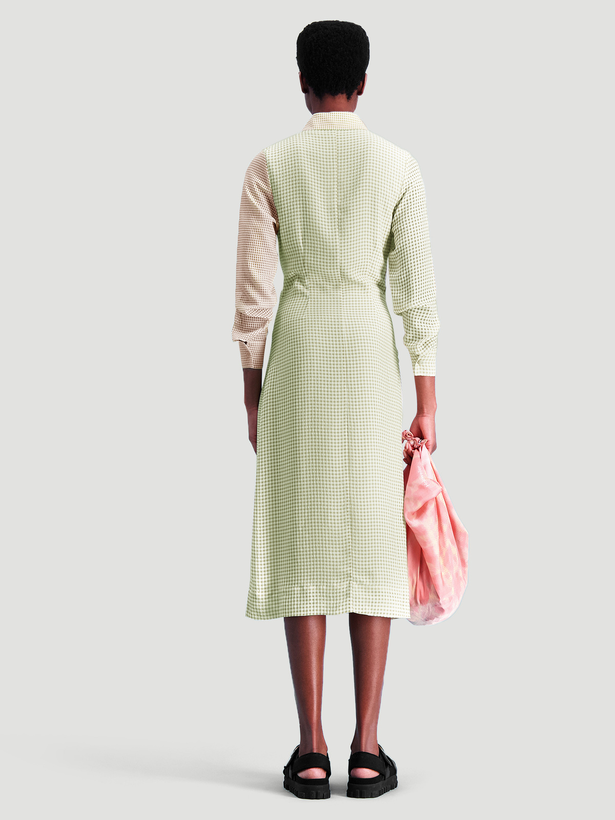 Peppo Dress  Lt. Green mix 3