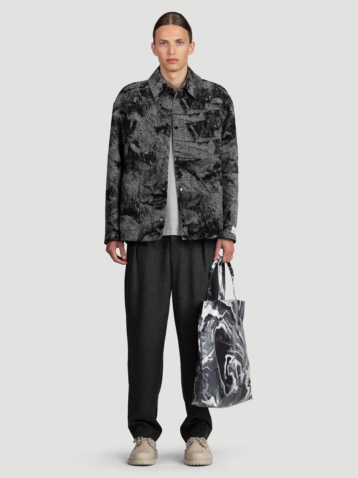 Mila Shirt Jacket  Grey Mix 0