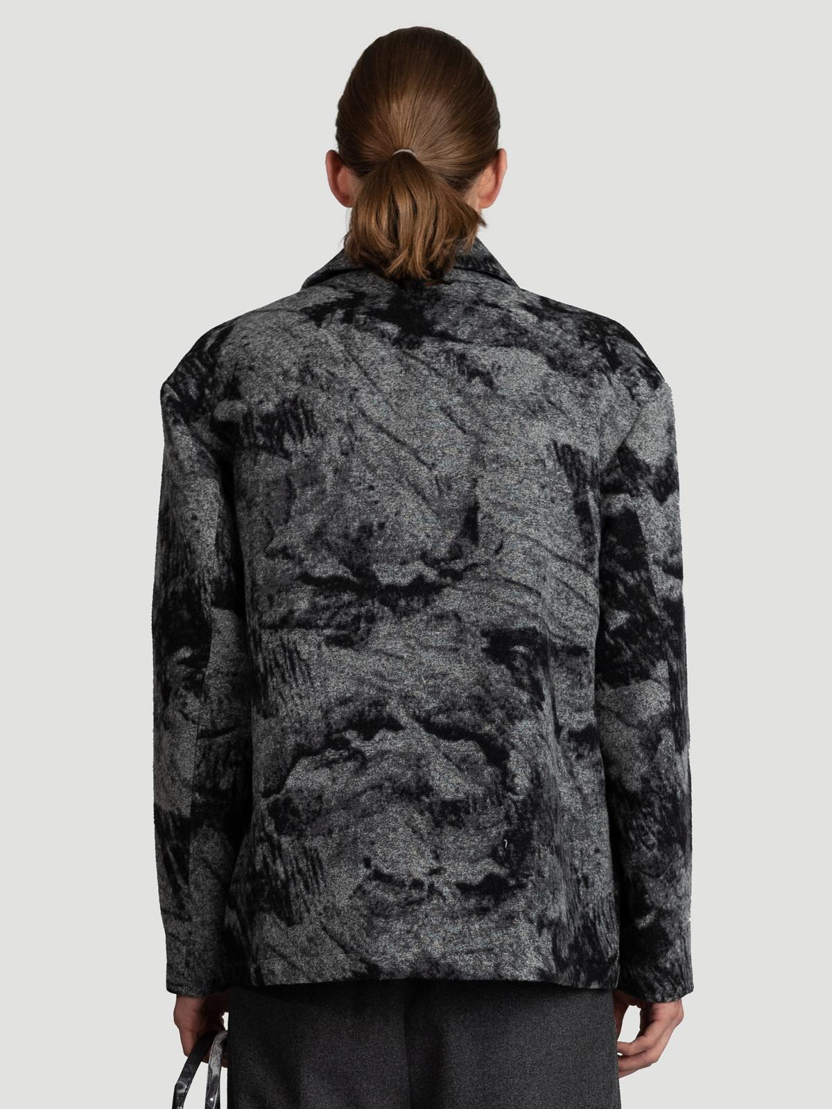 Mila Shirt Jacket  Grey Mix 4