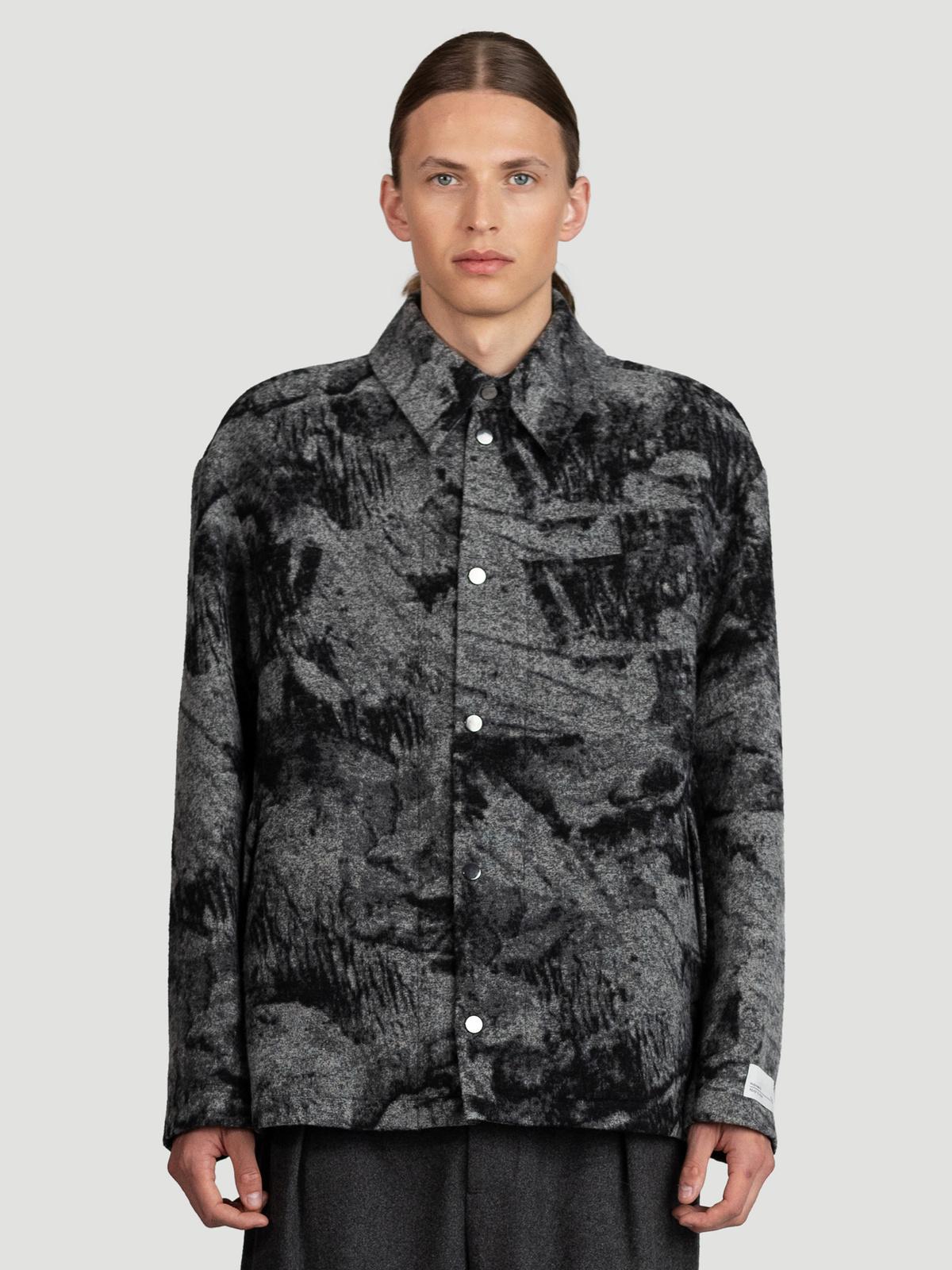 Mila Shirt Jacket  Grey Mix 3