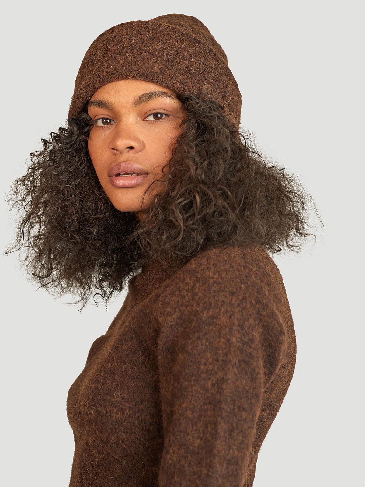 Erica Beanie  Brown 1