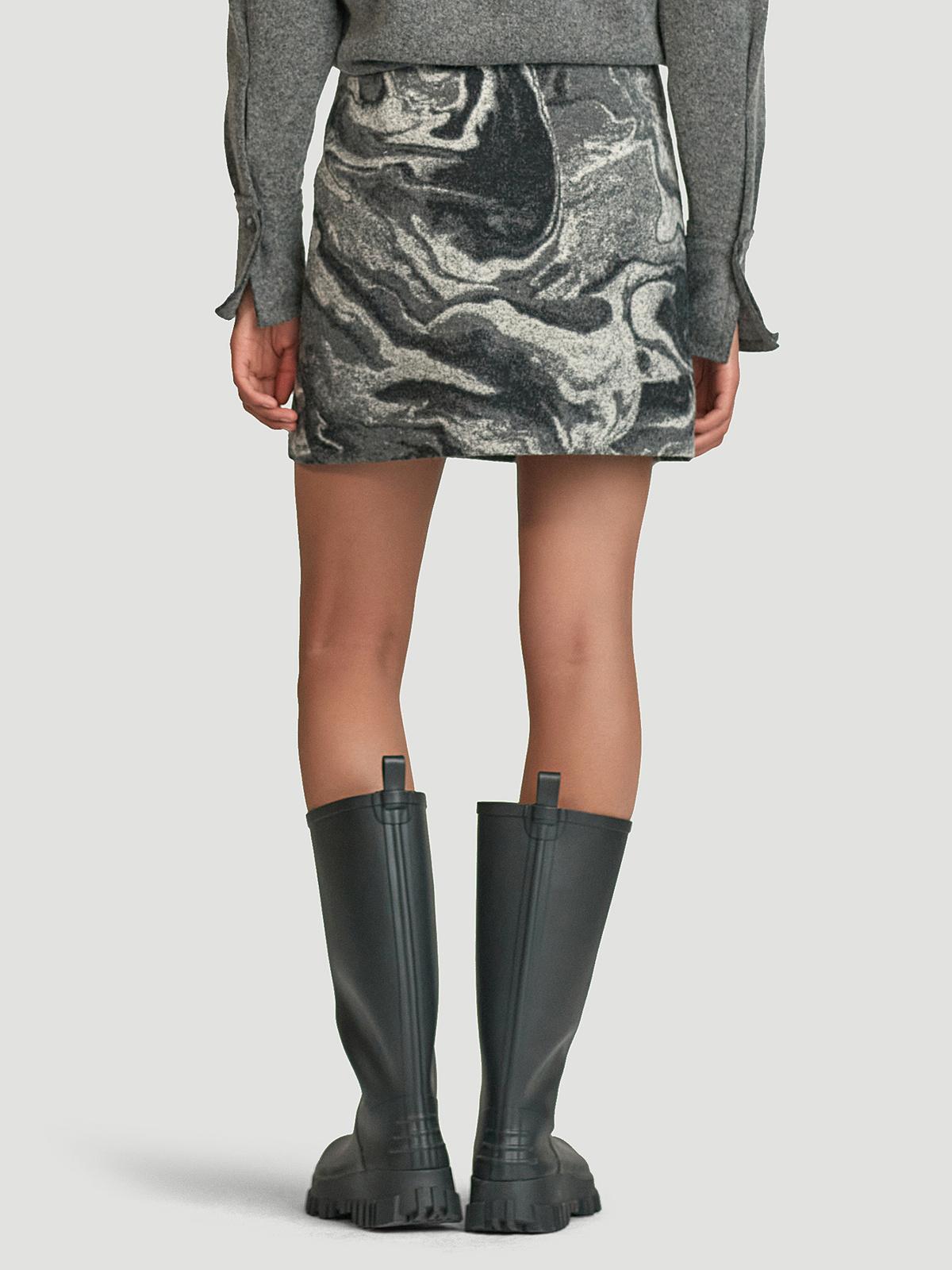 Bella Skirt  Grey Mix 4