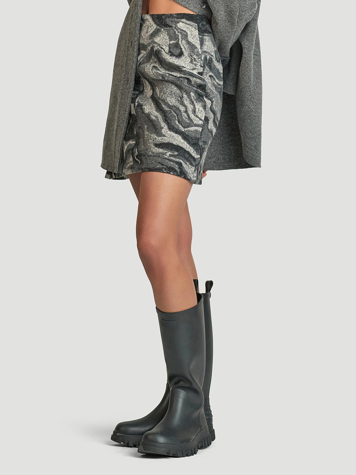 Bella Skirt  Grey Mix 3