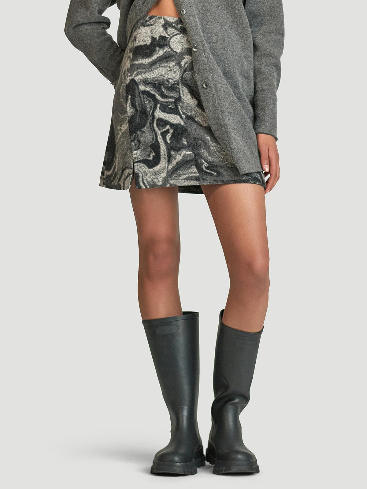 Bella Skirt  Grey Mix 2