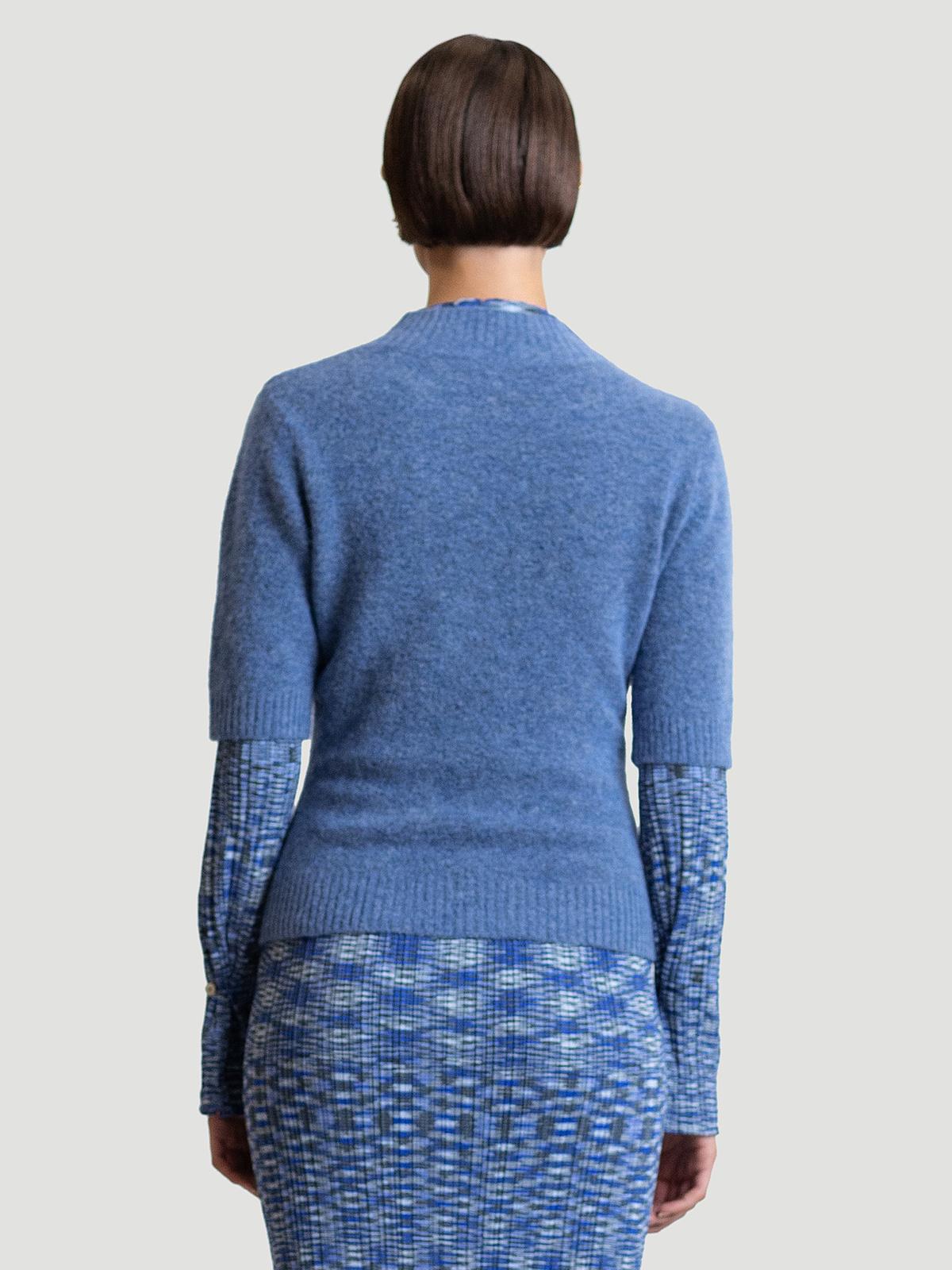 Puff Knit Tee  Blue 4