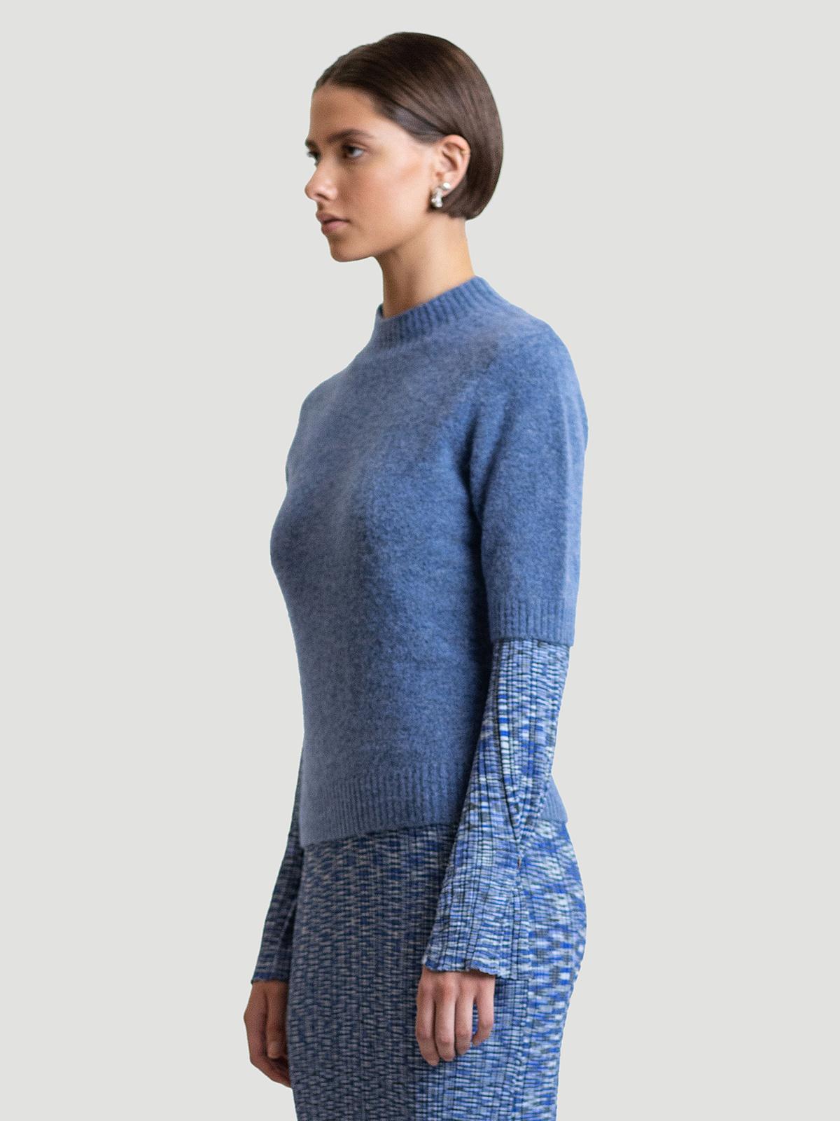 Puff Knit Tee  Blue 3