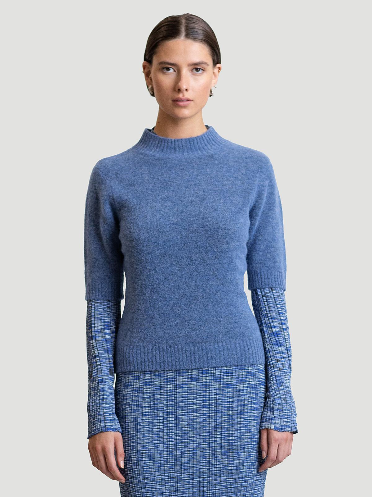 Puff Knit Tee  Blue 0