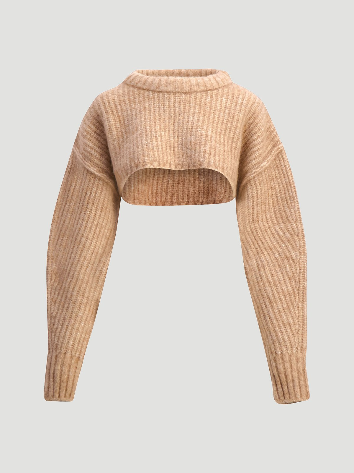 Bored Cropped Knit  Sand 7