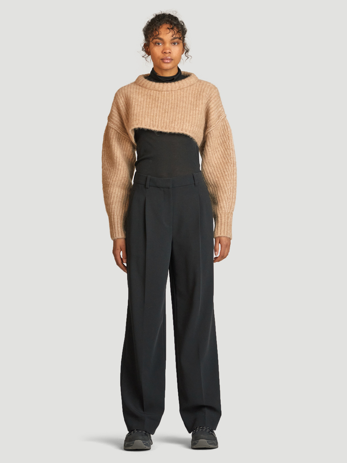Bored Cropped Knit  Sand 6