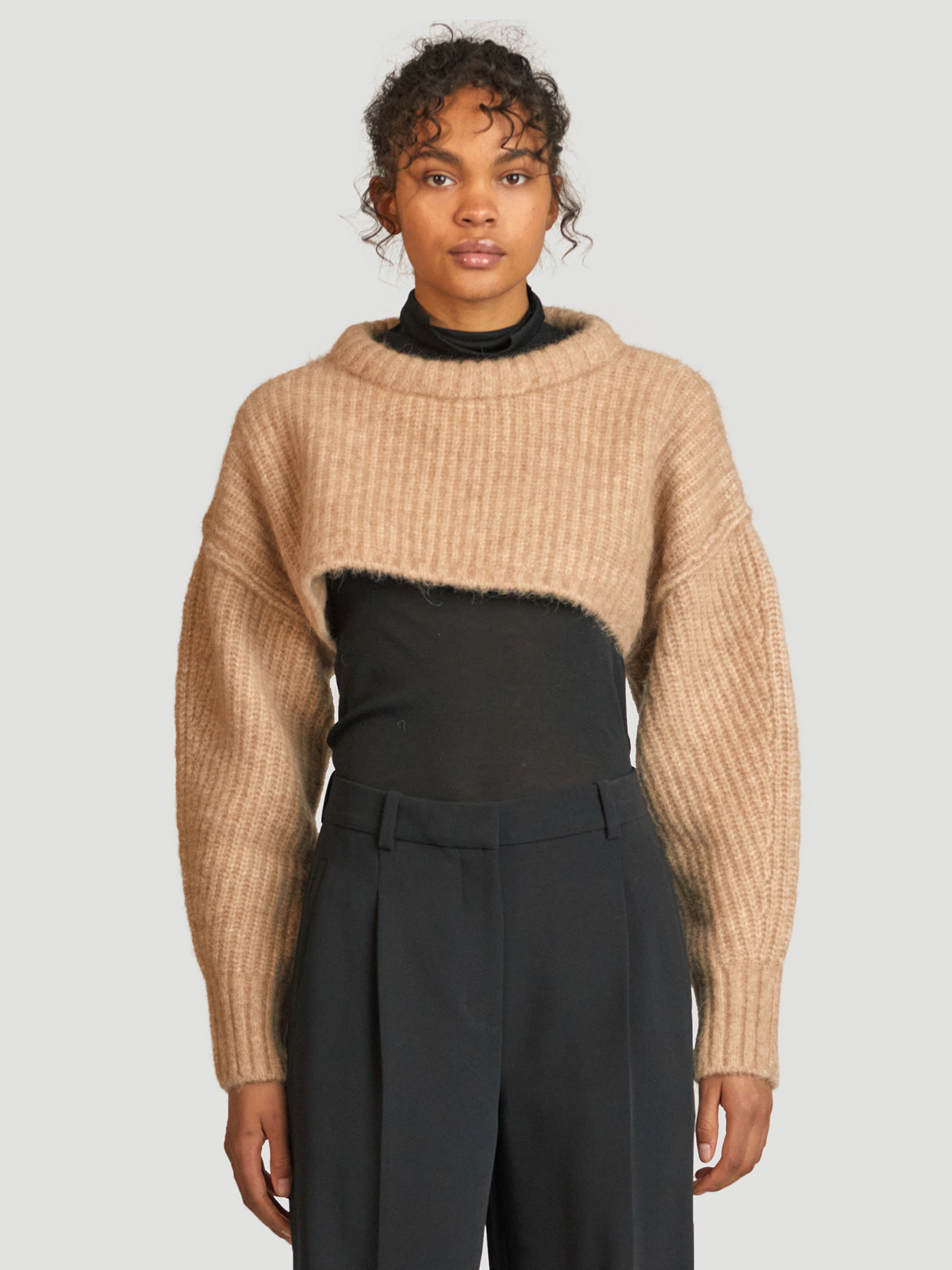 Bored Cropped Knit  Sand 0
