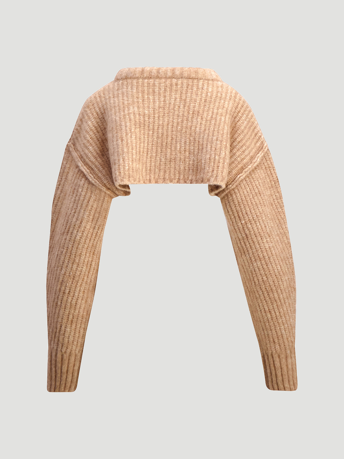 Bored Cropped Knit  Sand 8