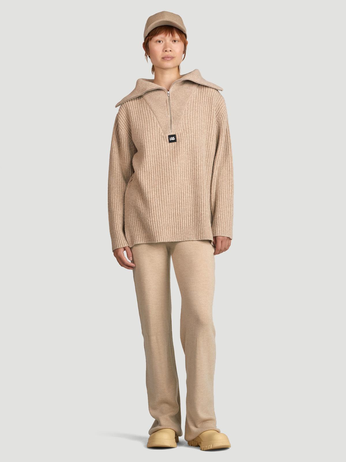 React Knit Sweater  Sand 2